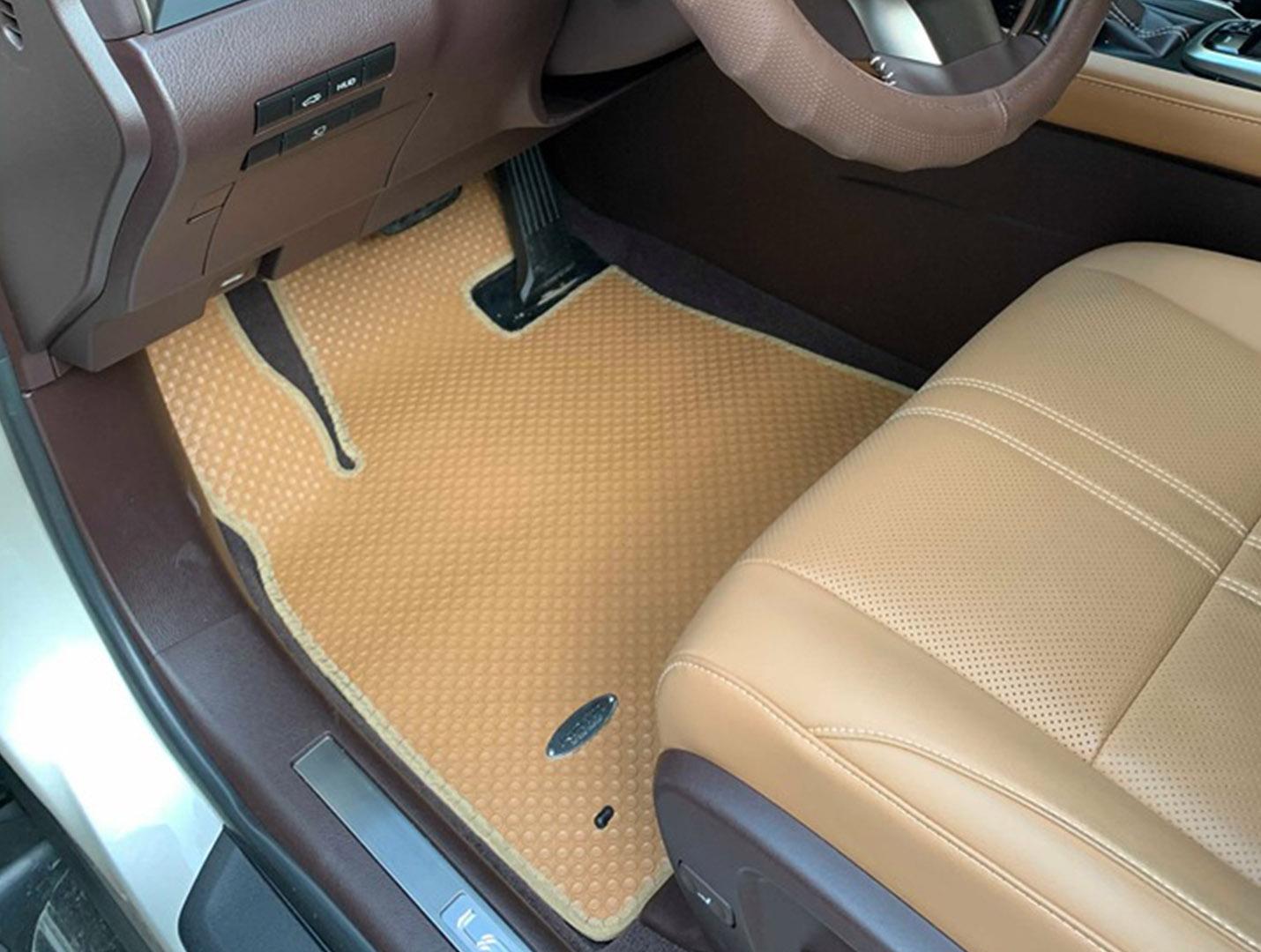 Thảm lót sàn ô tô màu da bò