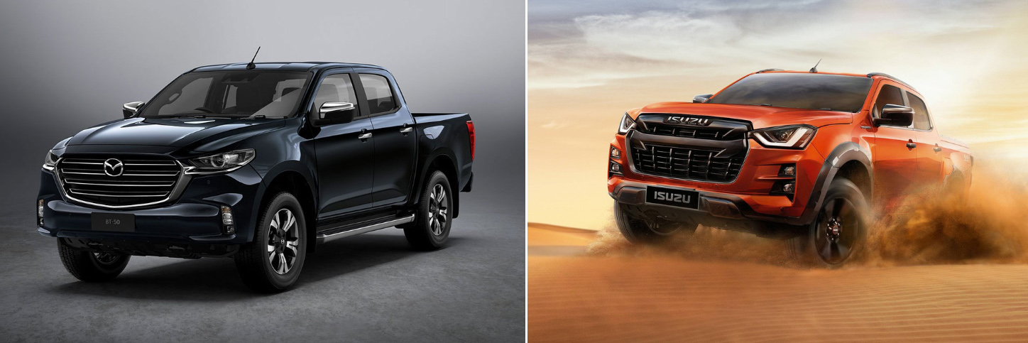 BT-50 2021 vs Isuzu D-Max