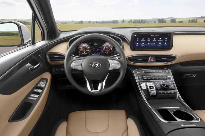 Nội thất Hyundai Santafe 2021