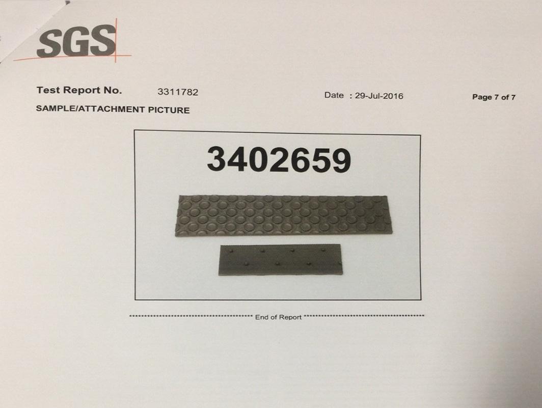Chứng chỉ SGS cho thảm lót sàn BackLiners